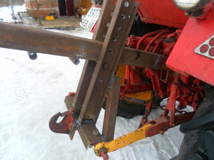 Самодельная навеска на трактор фото